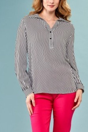 INSIGHT NYC Stripe Blouse