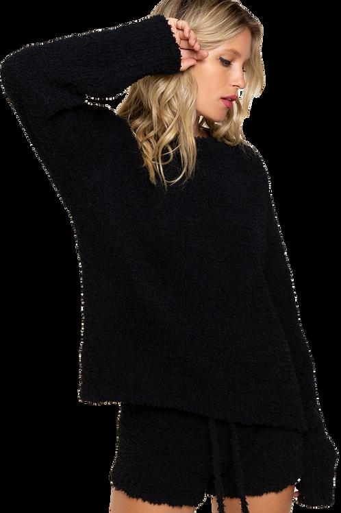 Black Berber Pullover