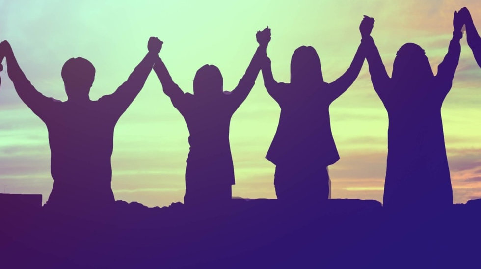 silhouette-of-happy-teamwork-hold-hands-up-as-a-business-successful-victory-business-goal-achievemen