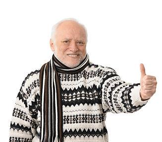 portrait-of-happy-senior-man-with-thumb-
