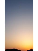 飛行機雲。