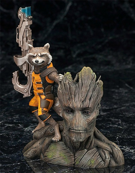 Rocket with Groot Bust
