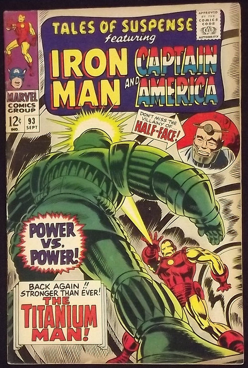 Tales of Suspense #93 - 1967 Silver Age Comic