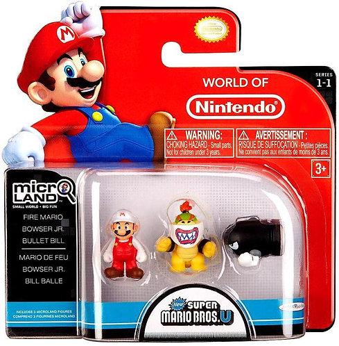 "Fire Mario, Bowser Jr & Bullet Bill ""Micro-land Pack"""