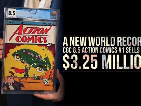 ACTION COMICS #1 BREAKS NEW WORLD RECORD!