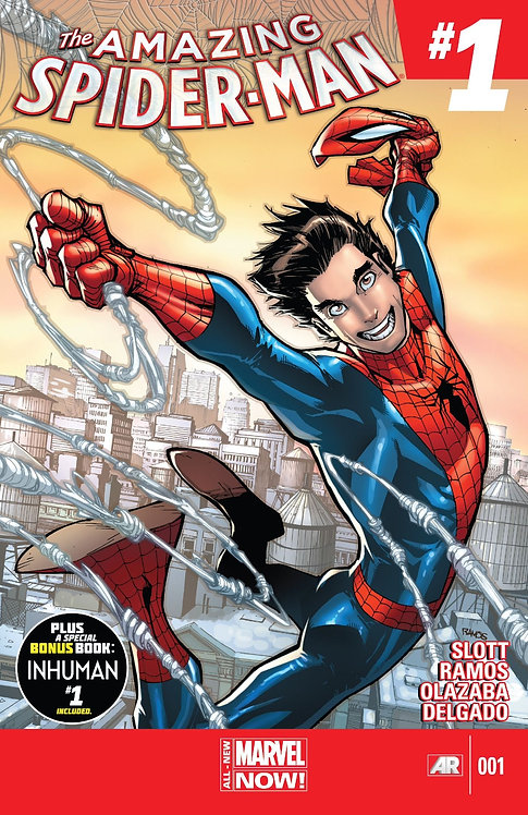 """Spider-man #001 First Cameo Appearance of Cindy Moon """"Silk"""""""