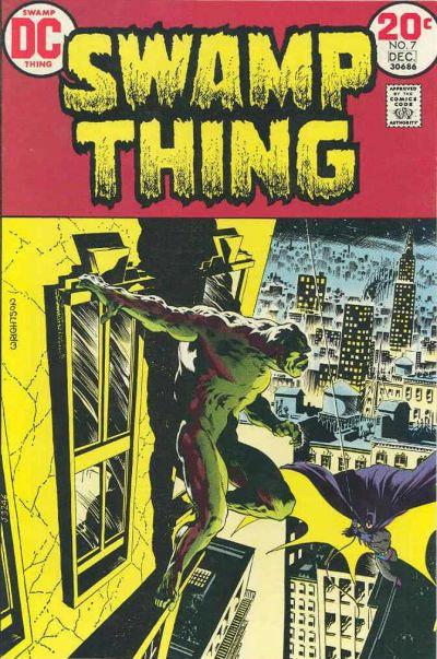 Swamp Thing #7 (1973) - First time Batman & Swamp Thing meet
