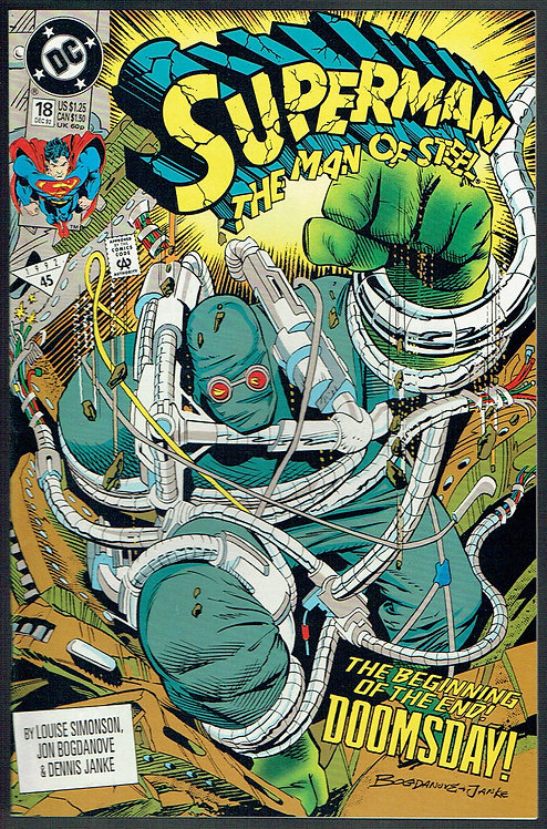 Superman - Man of Steel #18 First Appearance of Doomsday