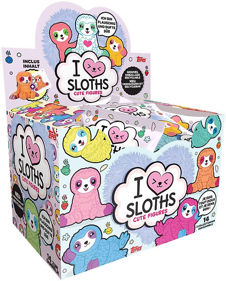 TOPPS I Love Sloths Cute Figures