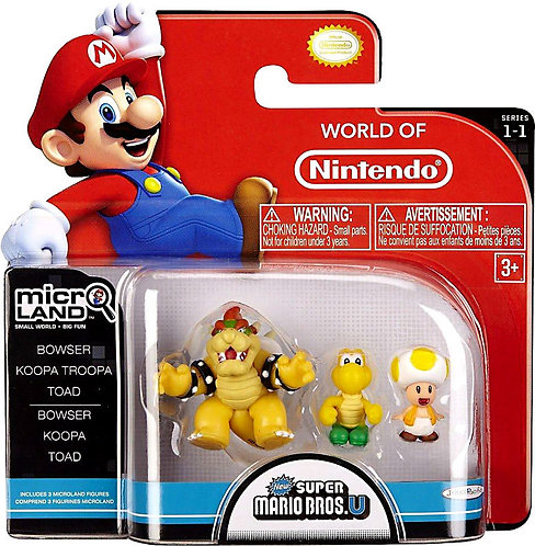 """Bowser, Koopa Troopa & Toad """"Micro-land Pack"""""""