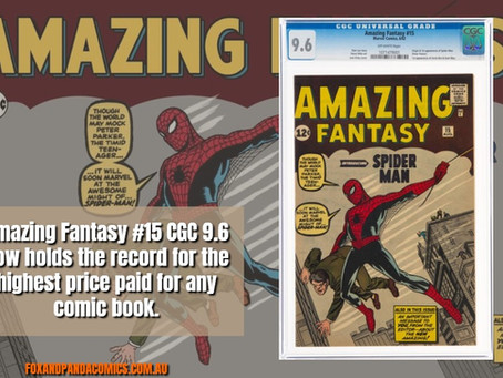 Amazing Fantasy #15 CGC 9.6 now holds the record for the highest price paid for any comic book.