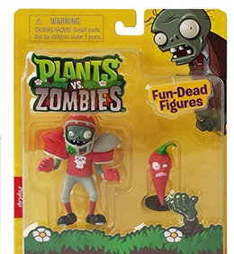 "Plants vs Zombies ""Football Zombie & Jalapeno"""