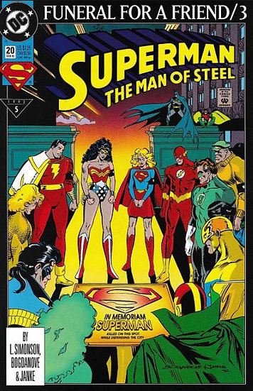 Superman - Funeral for a Friend #3 Man of Steel#20