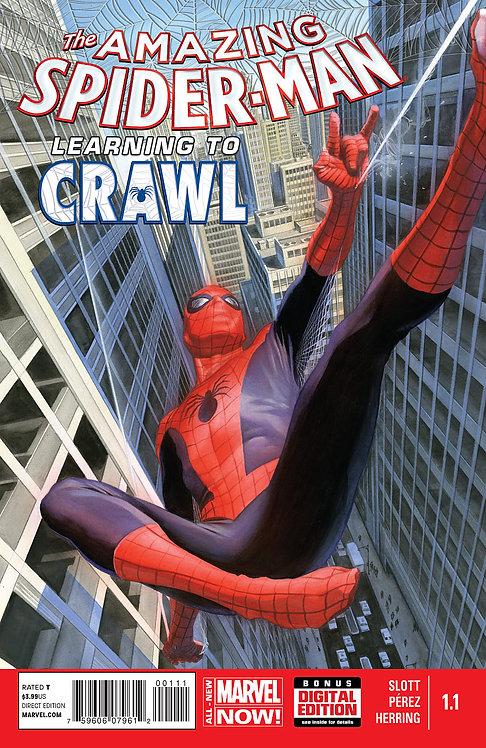 Amazing Spider-man Learning to Crawl