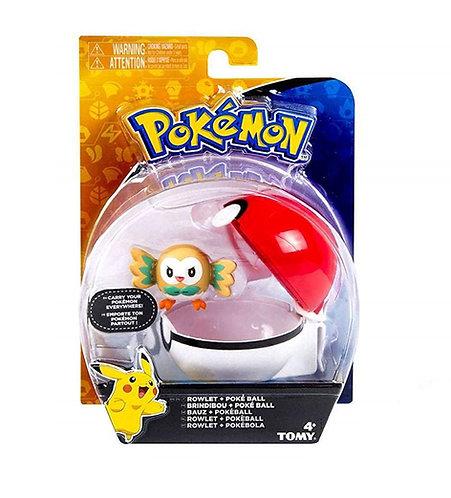 Pokemon Rowlet + PokeBall
