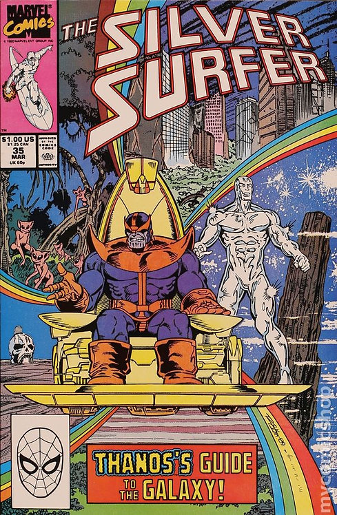 Silver Surfer #35 - 1990 Drax the Destroyer Resurrected
