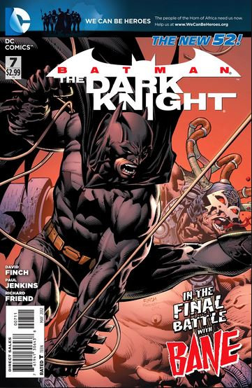 """Batman - The Dark Knight #7 """"in the final battle with Bane"""""""