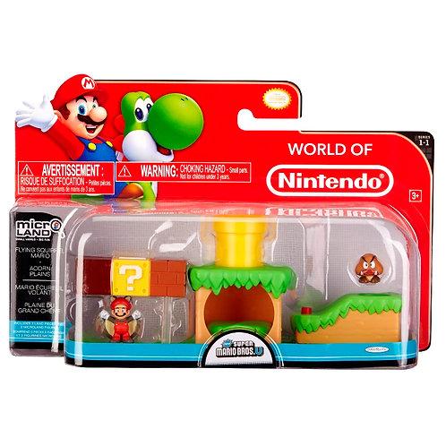 Nintendo Micro-land Set with Fyling Squirrel Mario