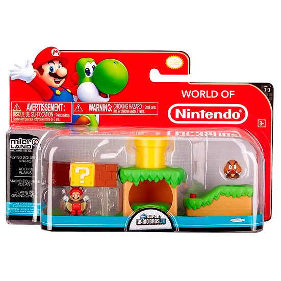 Nintendo Micro-land Set with Fyling Squirrel Mario