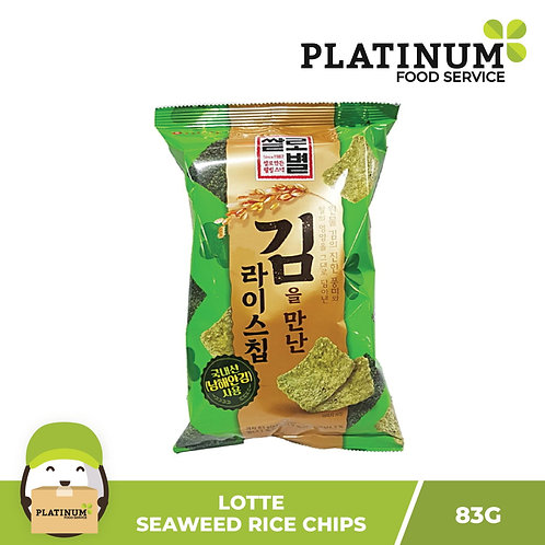 Lotte Rice Chips with Seaweed Laver 83g