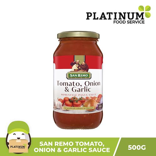 San Remo Tomato Onion Garlic Pasta Sauce 500g