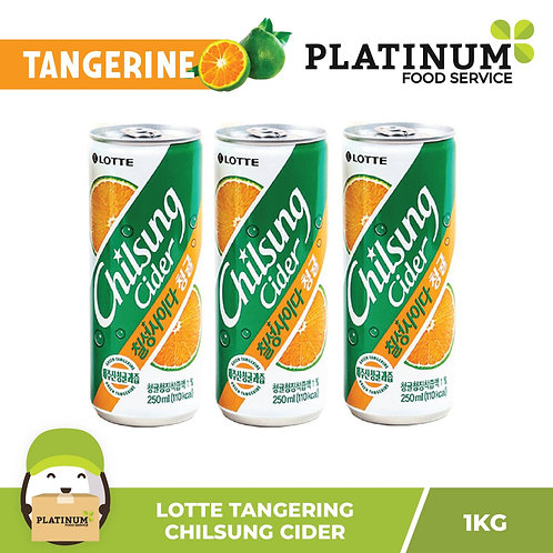 Lotte Chilsung Cider Tangerine Flavor (250mL x 3)