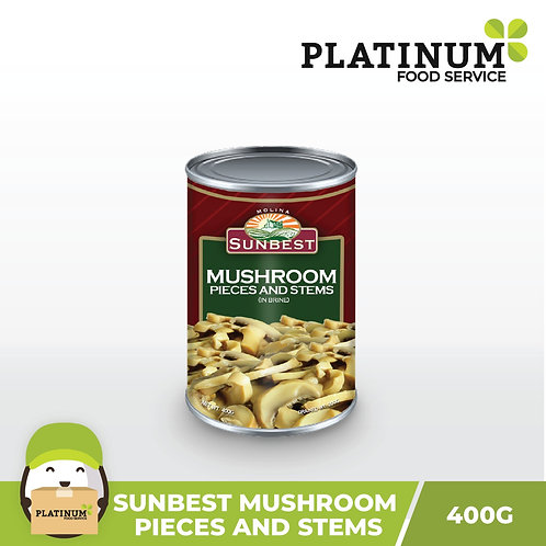 Sunbest Mushrooms Pieces and Stems 400g