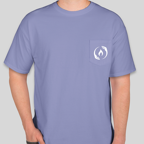 Periwinkle Comfort Colors Official Logo Short Sleeve T-Shirt