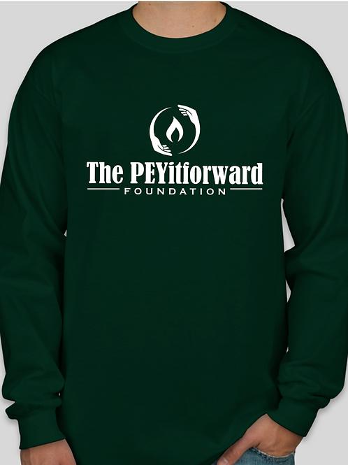 Forest Green Gildan Cotton Logo Sleeve T-Shirt