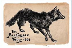 Allendale Wolf postcard