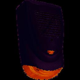 Sir-Ext-Flash-120 Sirena de exterior, 30w, antidesarme, strobo rojo, Gabinete AB