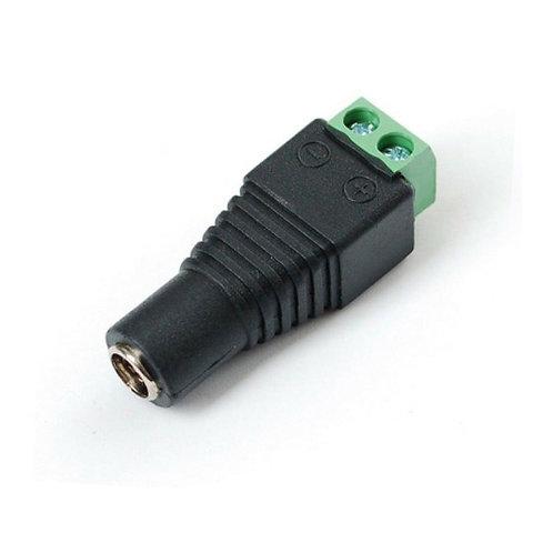 Conector hembra p/alim. 12V c/borneras