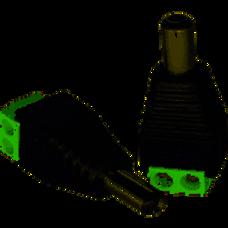 Conector macho p/alim. 12V c/borneras