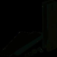CYGNUS EL-280U accesorio en U p/montaje de cerradura magnética en vidrio 280kg