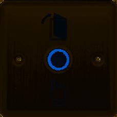 CYGNUS EF100 (EX906) botón EXIT metálico luminoso empotrable 86x86