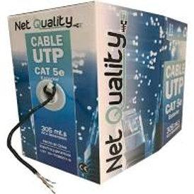 UTPc-EXT305-NetQ - NET QUALITY  CABLE UTP - Cat 5e - INTERIOR/EXTERIOR - Cobread