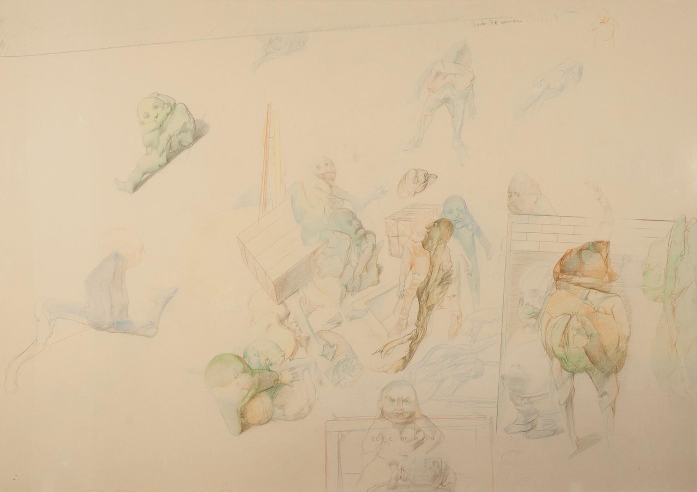 Dado, Ecole de dessin, 1972