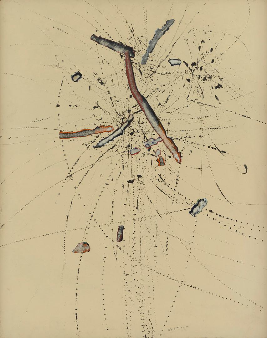 Bernard Réquichot, Traces graphiques, 1957