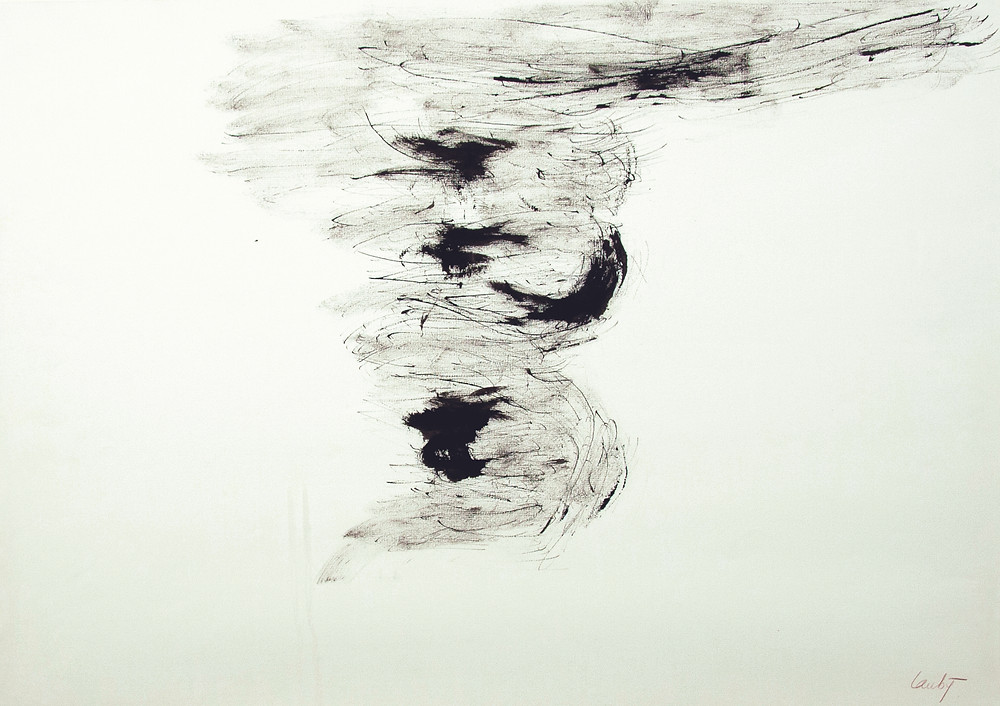 Un dessin à l'encre de Chine de l'artiste René Laubiès