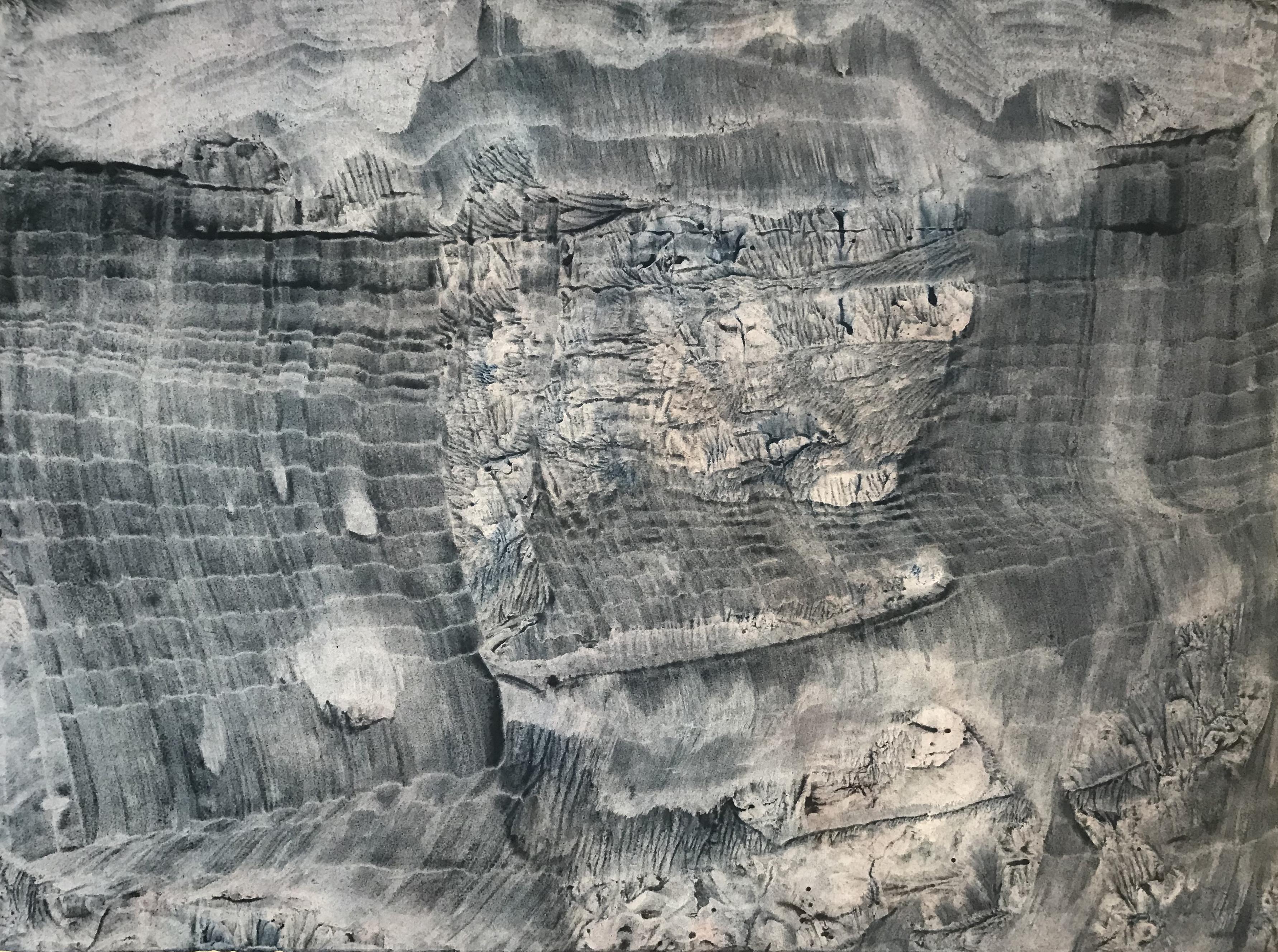 Hong InSook, Trace, 2020, gouache et encre de Chine sur papier, 57 x 75,5 cm