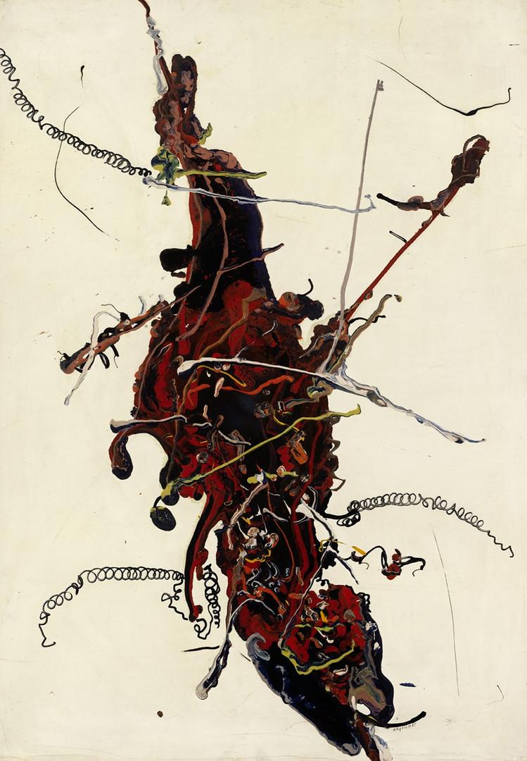 Bernard Réquichot, huile sur toile , 1957