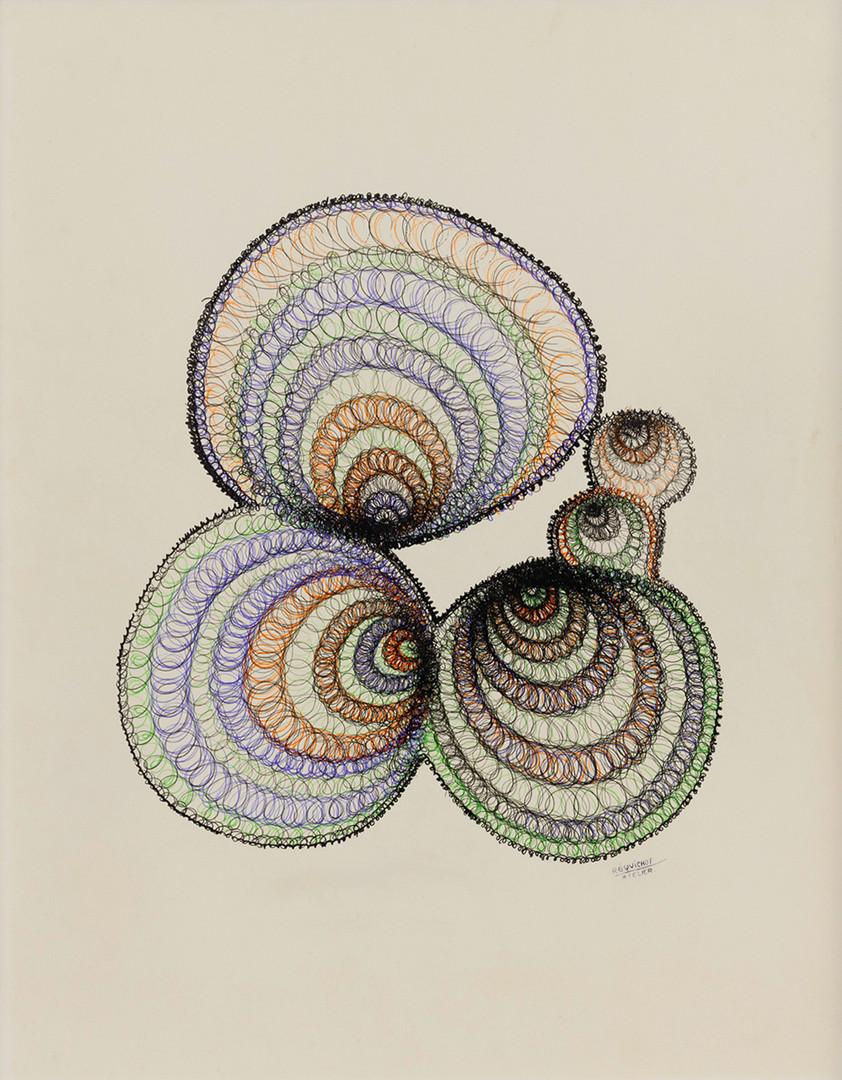 Bernard Réquichot, Dessin de spirales, 1961