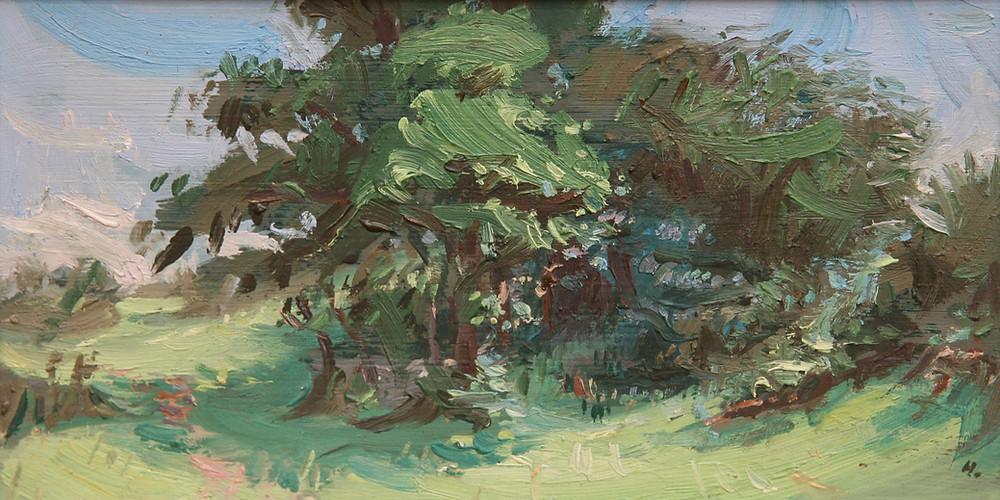 Peinture à l'huile de l'artiste Jean Hélion qui représente Belle ile