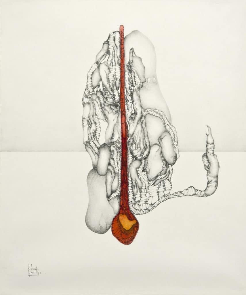 Fred Deux, Coulée centrale (larme incandescente), 1972