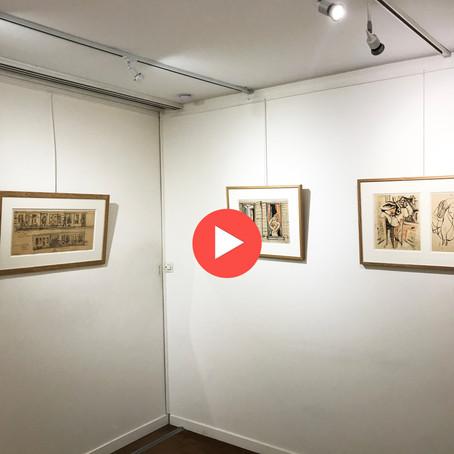 Visite virtuelle de notre accrochage de dessins de Jean Hélion