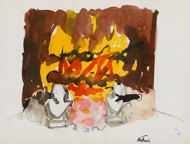 Jean Hélion, Feu de cheminée, 1976