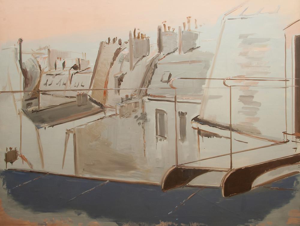 Peinture à l'huile sur toile du peintre Jean Hélion