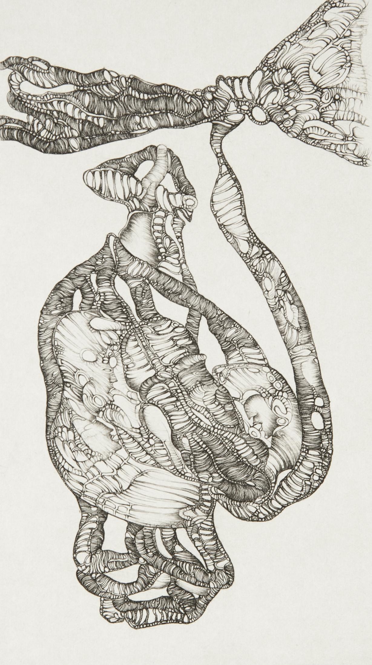 Cécile Reims, En visière, d'après Fred Deux, 1975 Epreuve sur papier vélin d'Arches, 19 x 10,5 cm