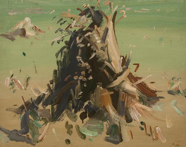 Huile sur toile de l'artiste Jean Hélion qui représente une gerbe d'avoine