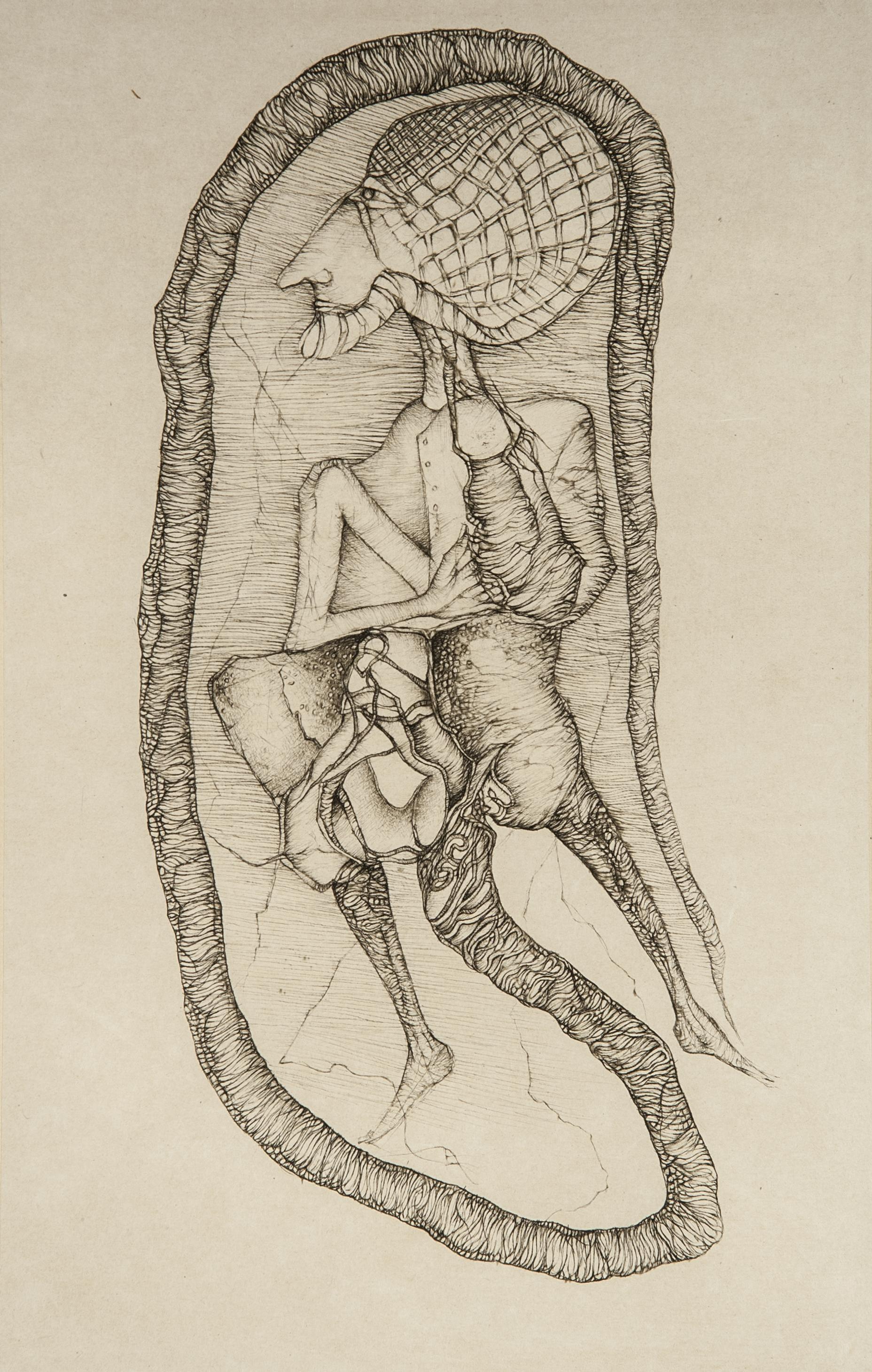 Cécile Reims, La Source, d'après Fred Deux, 2003 Gravure sur papier Japon appliqué sur vélin d'Arche